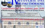IV Sudeckie Dni Muzyki Chóralnej